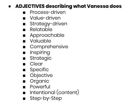 Adjectives describing what Vanessa Lau does