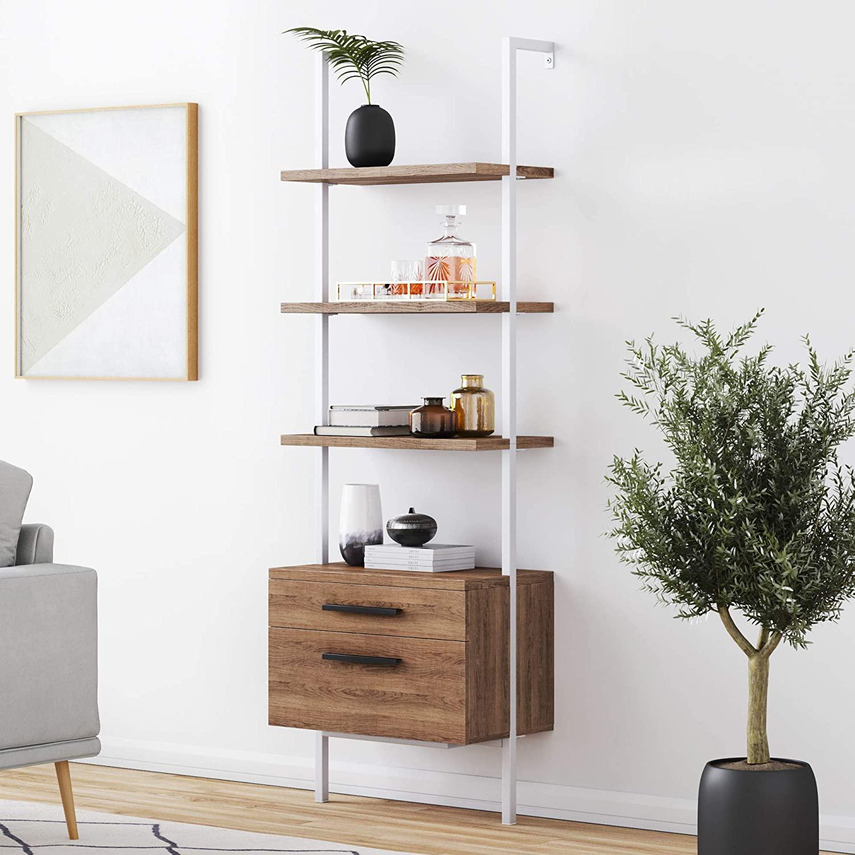 Nathan James Industrial Bookshelf
